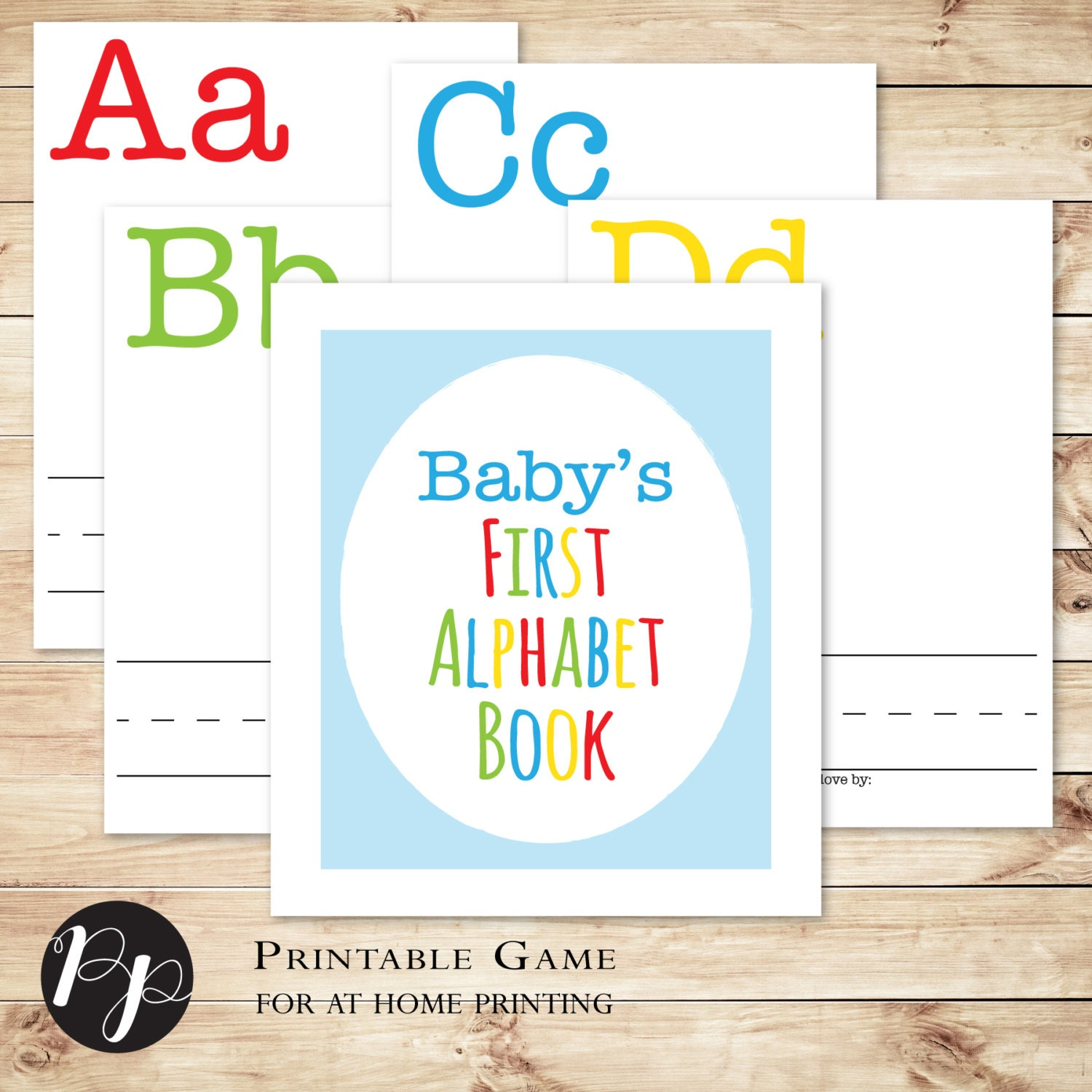 Build A Library Baby Shower Game Primary Colors // Baby's