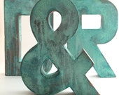 Faux Metal Letters - Oxidized Copper - Metal - Antique - Patina - Aged - Vintage - Industrial - Decorative - Rustic - Old - Beautiful