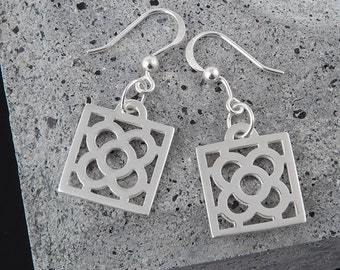 Earrings Art Nouveau Barcelona Flower