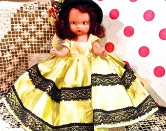 Vintage Nancy Ann Doll, Story Book Doll, Thursday's Child, #183, Dolls of the Day Series, Bisque Doll, Made in USA, Circa 1940s