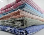 Set of 5 pcs Free Shipping !- Peshtemal -85x170cm - Soft -Thin - Quick Dry -Traditional Hammam Peshtemal -Gift for your Daddy