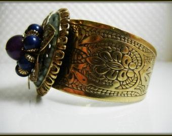 Vintage Bracelet/Floral Bracelet/Art Deco Bracelet