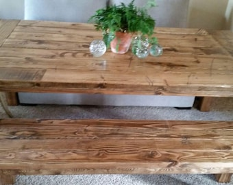 Farmhouse Table / Rustic Table / Harvest Table / 8ft Table / Hand Select  Pine /
