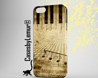 MUSIC ART Iphone 6 Case Music Note Iphone 5 Case Music Print Iphone 5C Case Music Iphone 6 Plus Case Piano Art Iphone 5S Case Gift for HIM