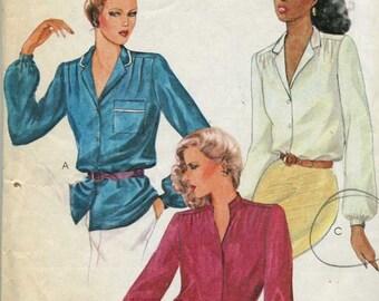 McCall's 6727 Vintage Misses' Blouse Pattern Size 12