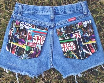 Star Wars High Waisted Shorts