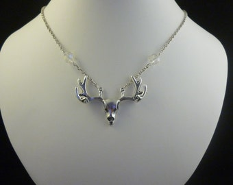 Crystal Stag Necklace Pendant
