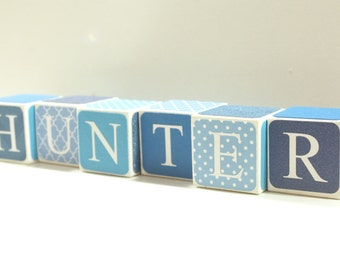Custom Baby Name Blocks Nursery Baby Shower Gift