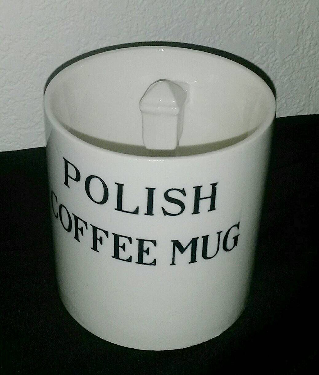 Vintage Polish Coffee Mug Novelty Gag Gift Polack Joke Cup