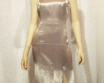 Jump Apparel Light Gray Evening Gown