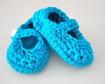Baby Girl Crochet Mary Jane Flats