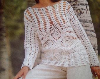 Handmade crochet top blouse jumper women crochet clothes MADE TO ORDER