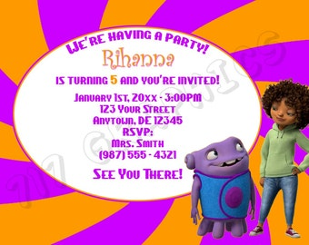 Home (Tip and Oh) Birthday Invitation - Printable