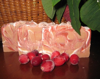 Cranberry Soap, All Natural Soap, Handmade Soap, Bath Soap, Bar Soap, Cold process Soap, Homemade Soap, Artisan Soap, New Hampshire Soap