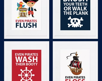 Pirate Bathroom Printables - Digital Files