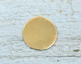 Five 3/4 inch 24G Deburred NuGold Discs
