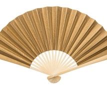 Glitz and Glam Gold and Silver Paper Fans Sets of 25 for Weddings. Special Events. Parties. Celebrations