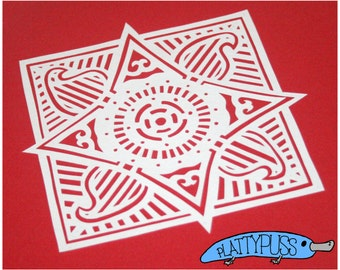 Square Motif - Commercial Use Paper Cutting Template