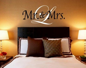 Items Similar To Mr And Mrs Wall Art Vinyl Black Decal Home Decorators Catalog Best Ideas of Home Decor and Design [homedecoratorscatalog.us]