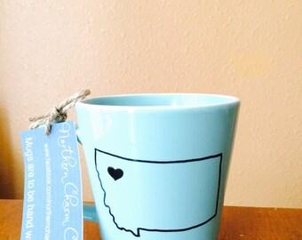 Montana Mug with heart