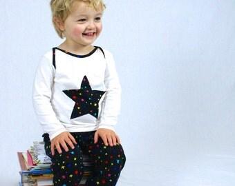 MBJM Starry Night PJs Prem./Small Newborn - Age 4 (cloth nappy/diaper friendly) sewing pattern