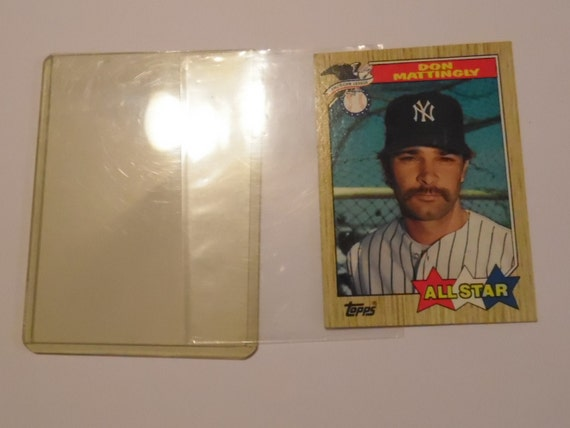 Don Mattingly Topps All Star Baseball Card 1987 New York