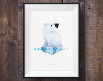 Polar Bear Iceberg Print - Signed Canadian Wildlife Series - Canada 150