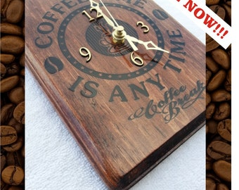 Coffee Time Is Any Time Clock !!!!! For all those coffee lovers out there, this is the clock for you!!! Item # 1032