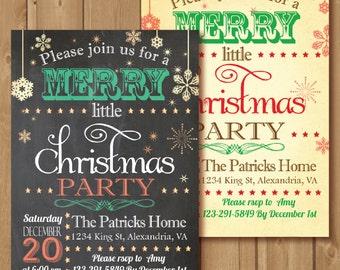 Christmas Invitation, Christmas Invite, Holiday Invitation, Christmas Party. Chalkboard Christmas invite PRINTABLE, Holiday Invite
