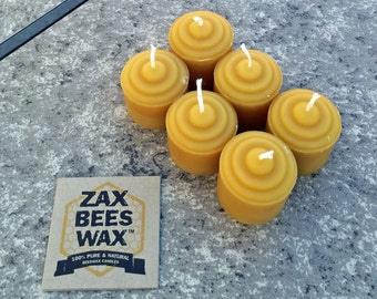 100% Pure & Natural Beeswax Mini-Votive Candles | Zax Beeswax