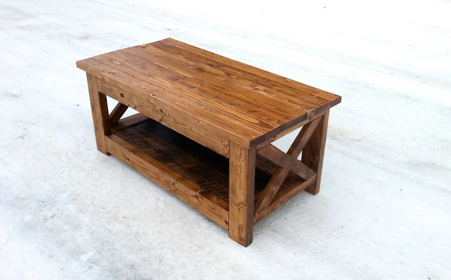 Rustic reclaimed wood coffee table by harperbellwoodworks