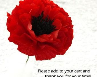 Tissue Paper Poppies, Handmade Wedding Flowers, Tissue Paper Poppies,  Colorful Blossom