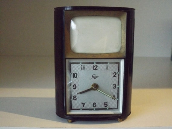 Sale Unique German Alarm Clock Music Box By Tillysfinds On
