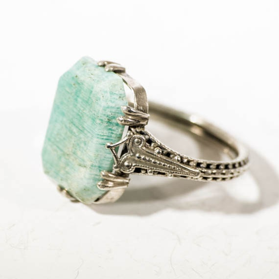 935 silver jade ring vintage deco by touchstonevintage