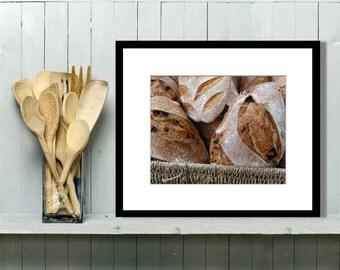 Food Photography, Kitchen Wall Art, Kitchen Decor, Wall Art, Home Decor, Rustic Kitchen Decor, Breads, Europe, Bakery, Restaurant Decor