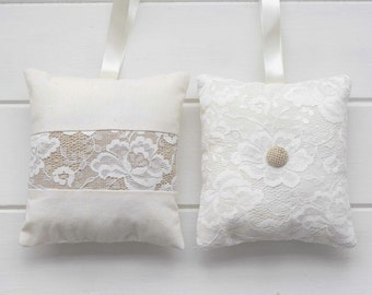 Lavender Bag Lace Burlap Linen Scented Hanging Sachet