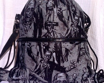 New Zombie drawstring backpack school bag