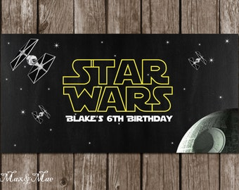 Star Wars Banner, Star Wars Birthday, Star Wars Decorations, Star Wars Party Decor, Printable, Digital File