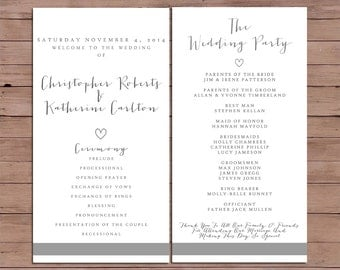 Wedding Program - Order Of Service - Printable Wedding - Rustic Wedding - Printable Program - 102