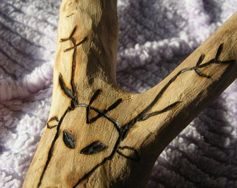 Oak Stag and Serpent wand