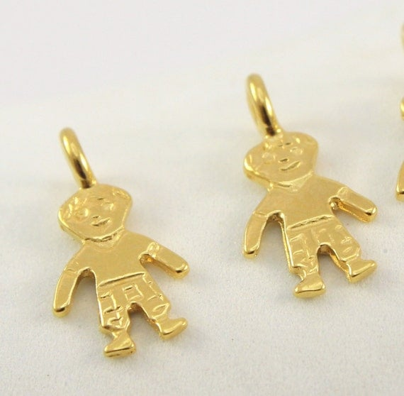 Baby Boy Gifts Jewelry : Gold charm baby boy pendant k by gypsydesignsltd