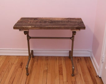 Write Yourself Away Reclaimed Wood Desk Industrial Steampunk Writing Desk