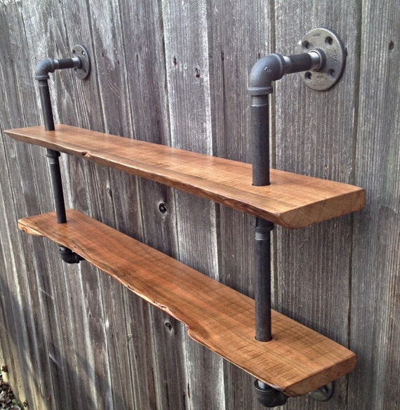 S jour bord tag re double r cup ration bois industriel for Free form wood coffee tables
