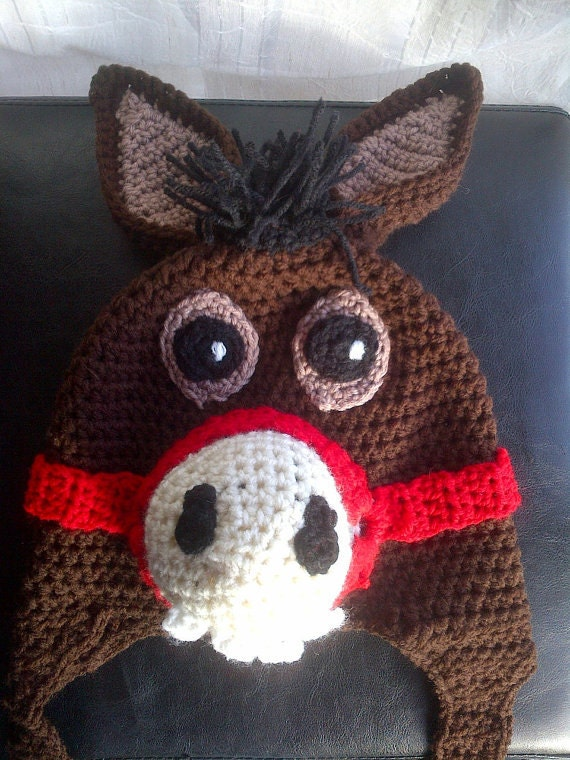 Knitting Pattern For Donkey Hat : Crochet Donkey Hat Pattern
