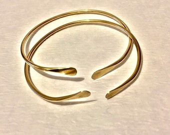 10g West Indian Brass Bangles - Set of 2