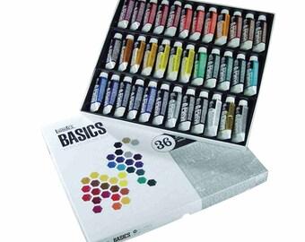 Acrylic Paint Set; Tube, 36 Piece Acrylic Paint Set