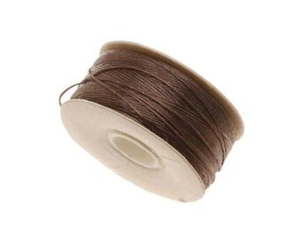 64-Yard Nylon Beading Thread String Cord; Size D, Brown