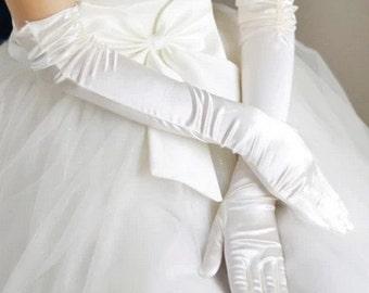 white gloves Ivory glove wedding gloves Bridal gloves lace gloves off white long gloves