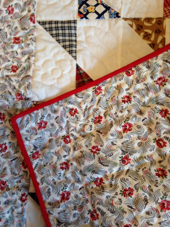 Flowers, Feedsack and Fun- Vintage Fabrics Make One Darling Doll Quilt!