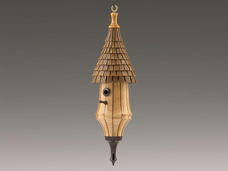 Birdhouse Christmas Tree Ornaments : No woodturned birdhouse christmas ornament